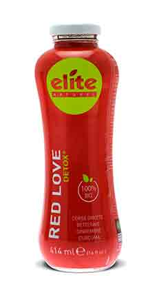 Bouteille 414 ml Elite naturel Detox - Red Love